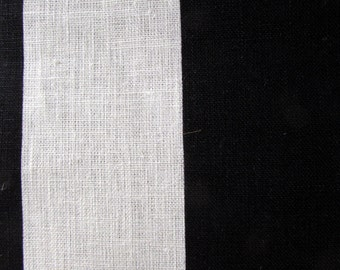 LINEN STRIPES black on ivory 3 inch, home decor fabric