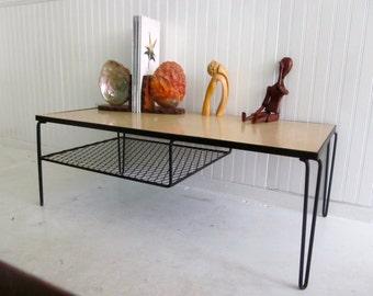 Mid century modern retro industrial Atomic Hairpin Leg Coffee Table Eames Era John Keal era