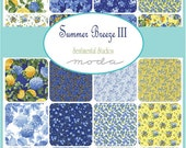 """ON SALE Summer Breeze III  Moda Quilt Fabric Moda Charm Pack 42 squares 5"""" Floral"""