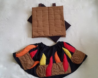 S'mores over a Campfire costume Top and Skirt sizes 2T to 10
