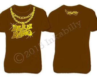 Men's Roller Derby T-shirt. Derby Dawg. Gansta Tee. SALE