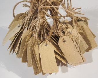 110 Handmade paper tags 6 x 3 cm - discounted & ready to ship!