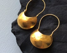 MYNDOS EARRINGS Hand Hammered Sterling simple artisan ethnic antique ancient inspired