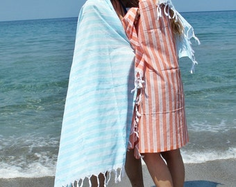 2 Beach Towels Bath Towel Fouta Peshtemal Turkish Towel Men Women Towel Premium Turkish Towel