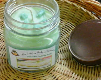 Pistachio Pudding  Cake 8oz Jar Candle