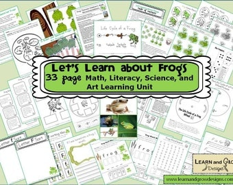 Let's Learn about Frogs Themed Learning Unit