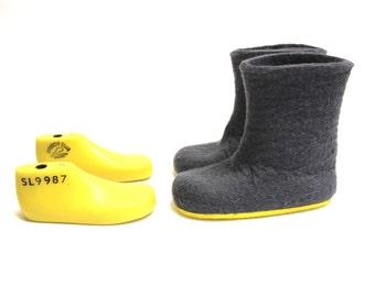 Kids Felt Boots - Custom Color Boots - Contrast Color Rubber Sole Boots - 30 Color Felt Boot - Mix and Match Colors - Custom made Kids Sizes