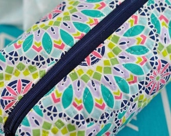 Boxy Cornered Zipper Pouch: Easy PDF Sewing Pattern for Beginners