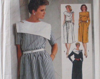 Easy to Sew Pullover Dress Sewing Pattern Adjustable for Misses Petite - Simplicity 7304 - Sizes 10-12-14, Bust 32 1/2 - 36, Uncut