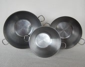 3 Piece Vintage Farberware Stainless Steel Mixing Bowls Set of 3 Double Ring Handles