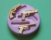 Gun Mold Silicone Rifle Mold Chocolate Gun Mold Jewelry Finding Cupcake Topper Resin Fondant Polymer Clay Mould
