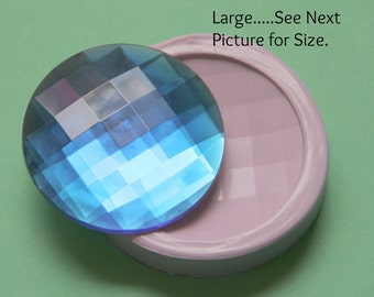 Large Round Faceted Gem Mold Silicone Flexible Polymer Clay Resin Soap Wax Fondant Butter Mould