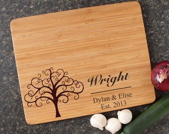 Personalized Cutting Board, Personalized Wedding Gift, Custom Engraved Bamboo Cutting Boards, Wedding Gifts, Housewarming Gifts-15 x 12 D18