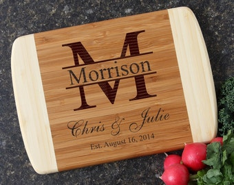 Personalized Wedding Gift, Personalized Cutting Board, Custom Engraved Bamboo Cutting Board, Wedding Gifts, Housewarming Gifts-10 x 7 D24