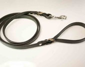 Leather Dog Leash - Braided Leather 4ft or 5ft length leather lead