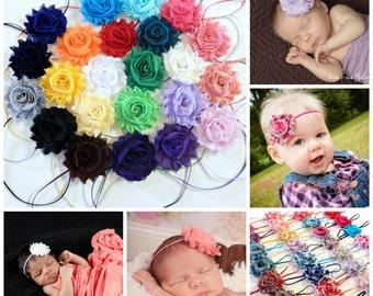 You Pick 6, Shabby Chic Rose Headband Set, Baby Headband Set, Baby Girl Headband, Infant Headband, Newborn Headband,Children's Headband