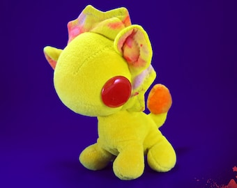"LEO the Lion, 6.5"" organic plush, natural plushie, cute soft toy, kawaii stuffed animal; handmade w/organic cotton fabric & glass eyes"