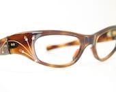 Tortoise cat eye glasses vintage cateye frames eyeglasses 1960s glasses