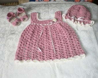 Cool Cotton 3 Piece Dress Set for 9 to 12 Months