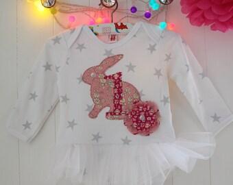 Bunny 1st Birthday Tutu Bodysuit