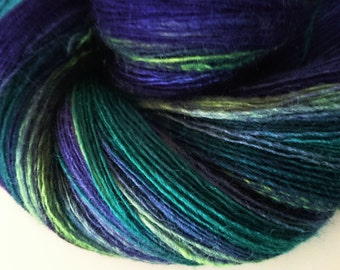BFL Hand Dyed Lace Weight Handspun Yarn