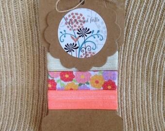 Floral Elastic Hair Tie Set
