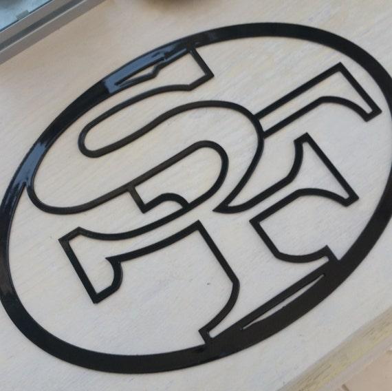 San Francisco 49ers Metal Garden Sign