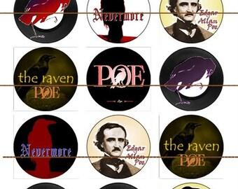 Edgar Allen Poe Magnets Pins, Literary Classic, Fridge Magnets