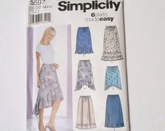Simplicity 5597 sewing supply destash