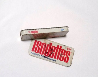 Vintage Isodettes tin from 1963