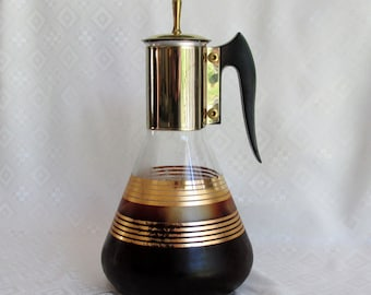 Vintage Pyrex Glassware Mid-Century Glass Coffee Tea Carafe Decanter Beverage Server Made in USA