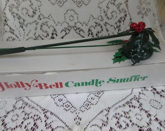 Christmas Holly Bell Candle Snuffer by Department 56