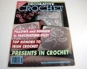 Vintage DECORATIVE CROCHET Pattern Book - November 1993 - #36 - Irish Crochet - Pillows - Runners - Doilies - Filet crochet and more
