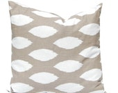 Decorative Pillow Cover, Taupe Pillow Cover, Tan Pillow Covers, ONE Throw Pillow Cover, Chaz Premier Prints Ecru Tan Cushion Covers