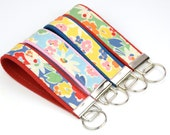 BUY 4 GET 1 FREE- Keychain Wristlet- Key Fob Retro Multi Floral