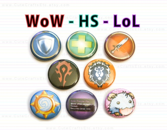 MMORPG 1-inch Pin Back Button