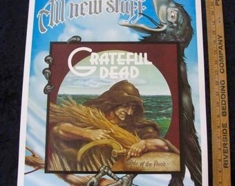 "Rick Griffin Grateful Dead Original Wake of The Flood Poster 1973  EXC 17"" x 23"
