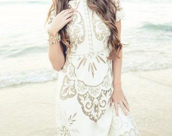 Free Spirit vintage lace wedding dress