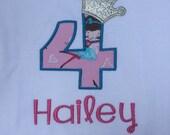 Sparkly Birthday Princess Crown Shirt, Birthday Princess Numbers Shirt, 0-9 Princess Crown Birthday Numbers, Princess Birthday, Crown Shirt