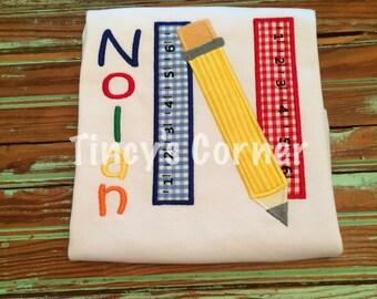 School Days Appliqued Shirt