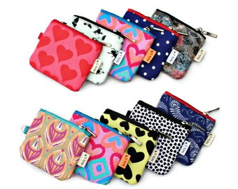 Cute Coin Purses,10 Purse Gift Set,Purse Gift Bundle,Mini Zip Pouch,Party Favor Bag,Girl Party Favor,Keychain Purses,Teen Party Pack