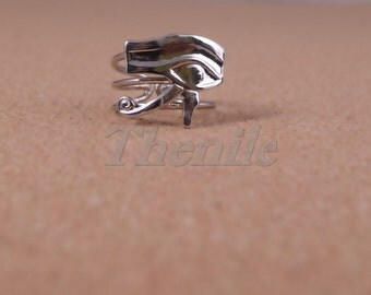 Egyptian Open Work Wire Eye Of Horus Ring