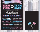 Gender Reveal Shower Invitation