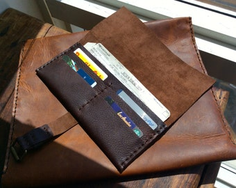 Women's leather wallets, Leather travel wallet, Boarding pass holder, Large womens wallets, Airplane ticket holder, Passport document holder