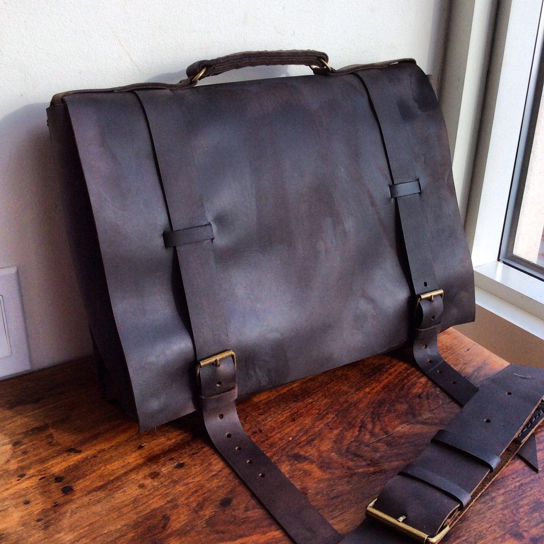 Mens leather laptop bag Custom satchel Professional laptop