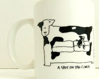 Doug Wilson Coffee Tea Ceramic Mug A spot on the couch black and white