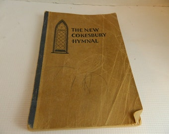 The New Cokesbury Hymnal book ephemera craft sheet music