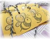 Bumblebee - Bee - Mini Tags - Gift/Hang tags (8)