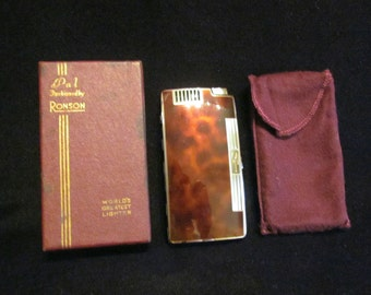 Ronson Pocket Pal Case Lighter 1930's Cigarette Case Working Vintage Case Lighter Boxed Excellent Condition WORKING