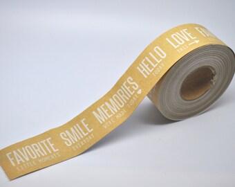 Kraft Tape - 10 yards - Gift Wrap - Packaging - Paper Tape - Kraft wedding